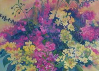Kvety zo záhrady 70x50 olej