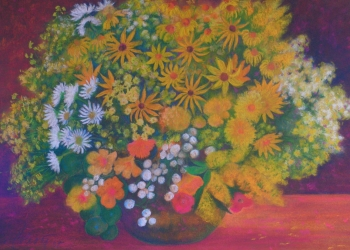 Zátišie s letnými kvetmi